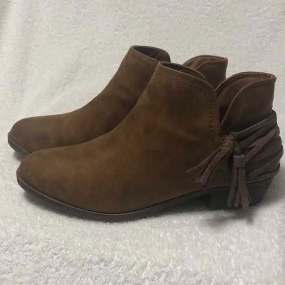 Sugar Shoes - Sugar Tassel Ankle Boots Size 9.5